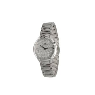 Orologio Solo Tempo Lorenz in Acciaio con Zirconi - Montenapoleone – 026762DD