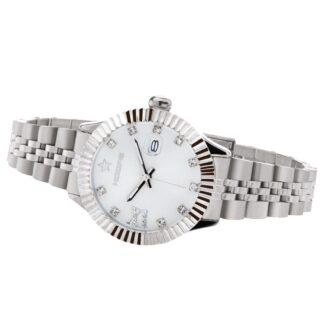 Orologio Solo Tempo Hoops in Acciaio con Zirconi - New Luxury Diamonds - 2619LD-S01