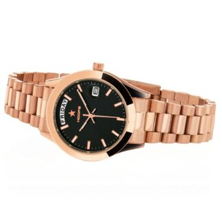 Orologio Solo Tempo Hoops in Acciaio - Luxury Day Date Gold - 2620L-RG02