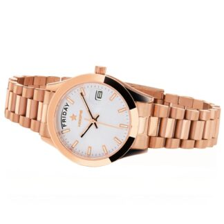 Orologio Solo Tempo Hoops in Acciaio - Luxury Day Date Gold - 2620L-RG03