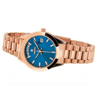 Orologio Solo Tempo Hoops in Acciaio - Luxury Day Date Gold - 2620L-RG04