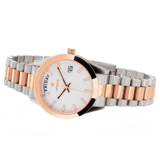 Orologio Solo Tempo Hoops in Acciaio Bicolore - Luxury Day Date S&G - 2620LSRG03