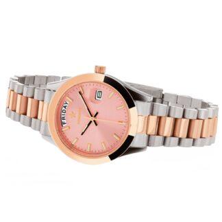 Orologio Solo Tempo Hoops in Acciaio Bicolore - Luxury Day Date S&G - 2620LSRG05