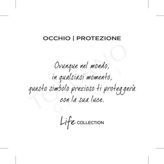 Collana Kidult in Acciaio e Smalti Occhio  Protezione – Spirituality – 751155