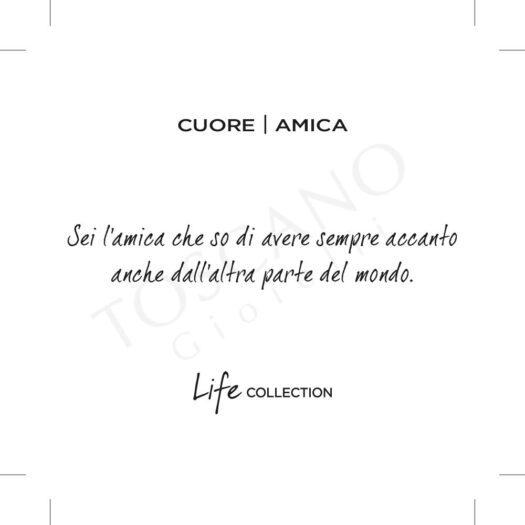 Set Collane Kidult in Acciaio e Smalti Cuore  Amica – Love – 751088
