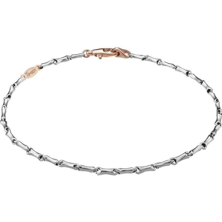 Bracciale Zancan in Oro Bianco e Oro Rosa - Eternity Gold - EB550BR
