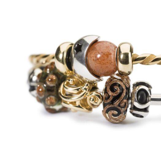Beads Trollbeads in Argento - Luna e Stelle - TAGBE-10209