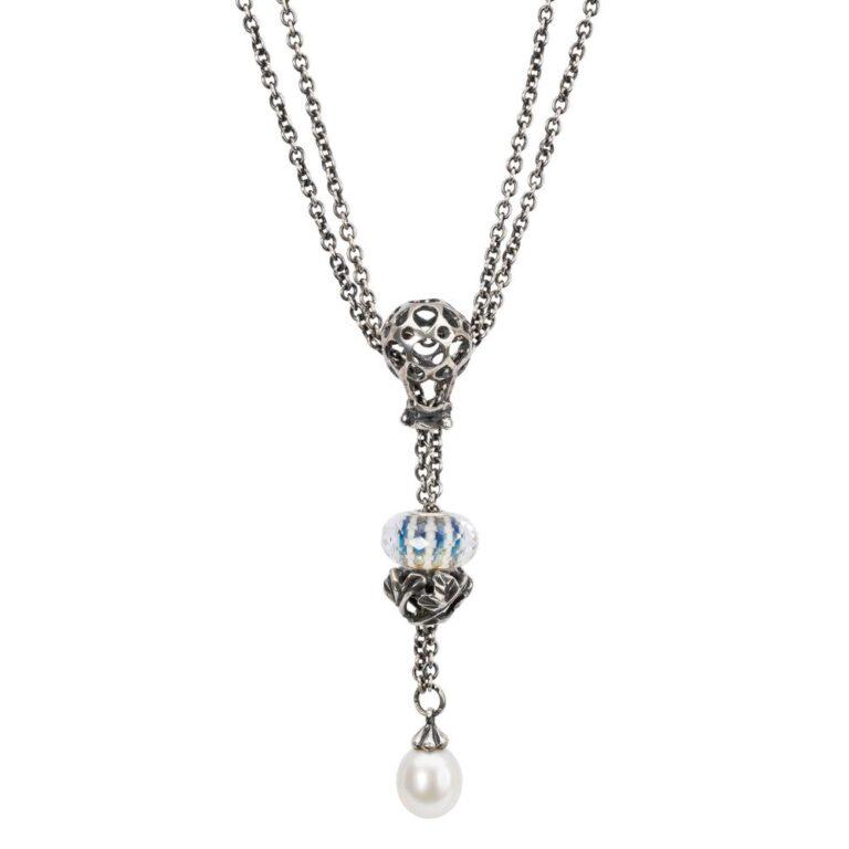 Beads Trollbeads in Argento - Stop Corona di Foglie - TAGBE-20189