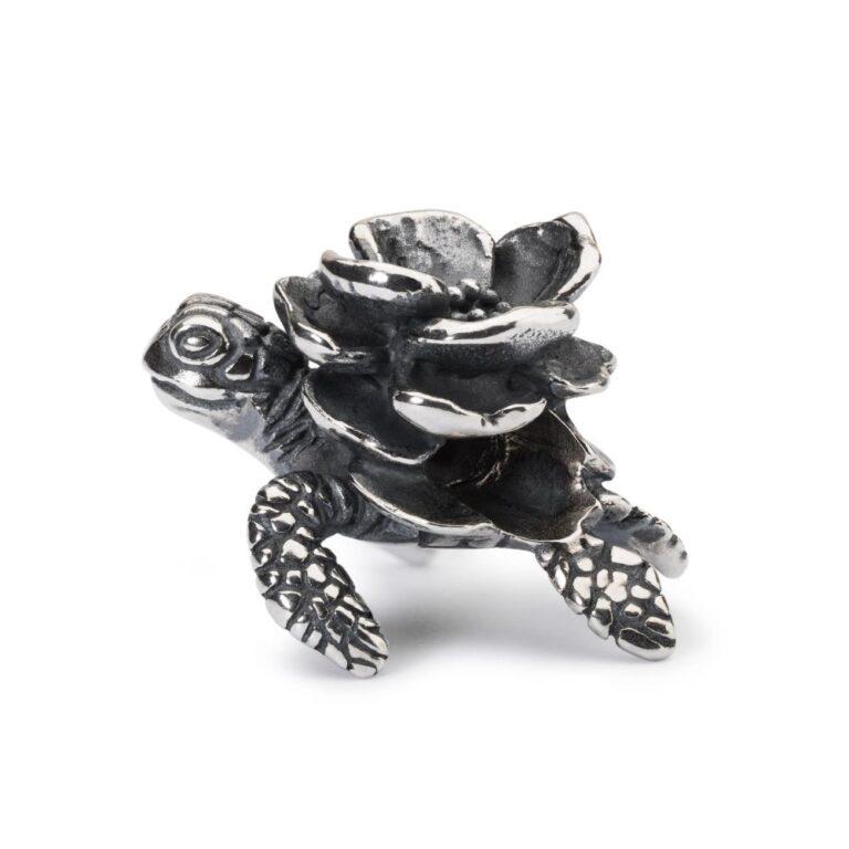 Beads Trollbeads in Argento - Turtle Flower - TAGBE-40115