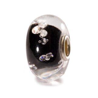 Beads Trollbeads in Argento e Vetro - Diamante Nero - TGLBE-00070