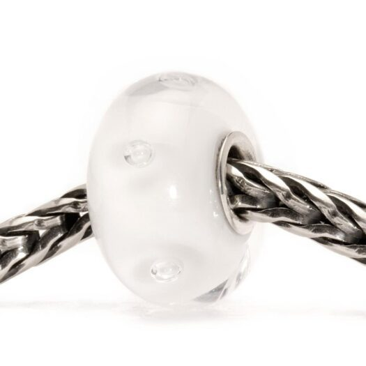 Beads Trollbeads in Argento e Vetro - Bolle Bianche - TGLBE-10231