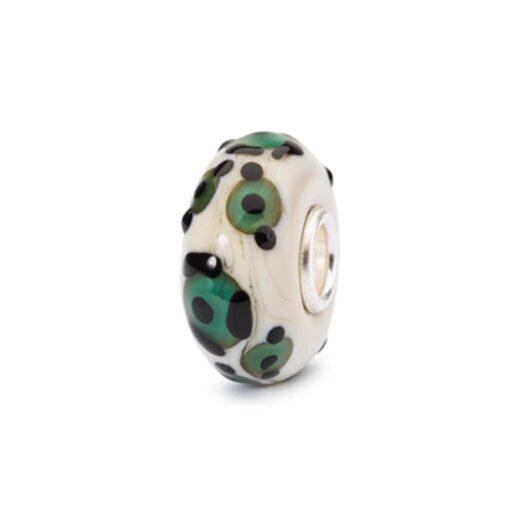 Beads Trollbeads in Argento e Vetro - Giaguaro Opalescente - TGLBE-10418