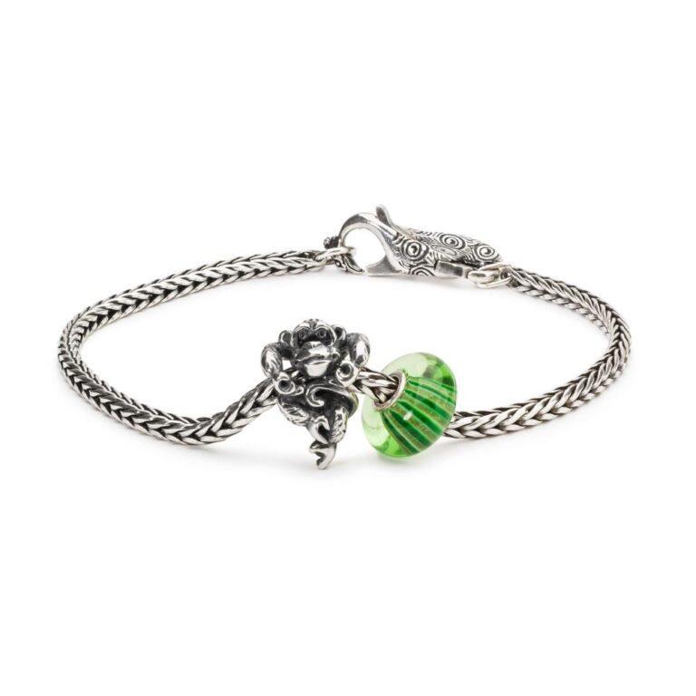 Beads Trollbeads in Argento e Vetro - Città di Smeraldo - TGLBE-10424
