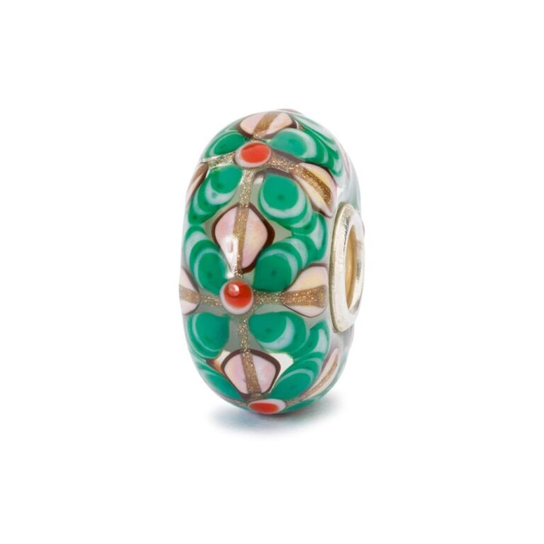 Beads Trollbeads in Argento e Vetro - Fiori Magici - TGLBE-10428