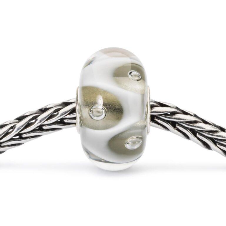 Beads Trollbeads in Argento e Vetro - Gocce d'Acqua - TGLBE-10439