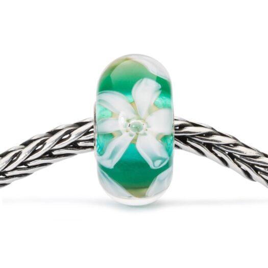 Beads Trollbeads in Argento e Vetro - Fiore della Speranza - TGLBE-10444
