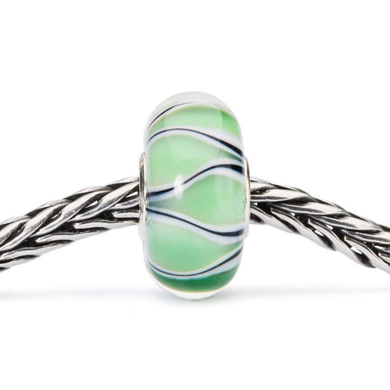 Beads Trollbeads in Argento e Vetro - Tulipani Verdi - TGLBE-10445
