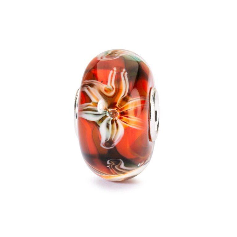 Beads Trollbeads in Argento e Vetro - Fiore della Passione - TGLBE-10453