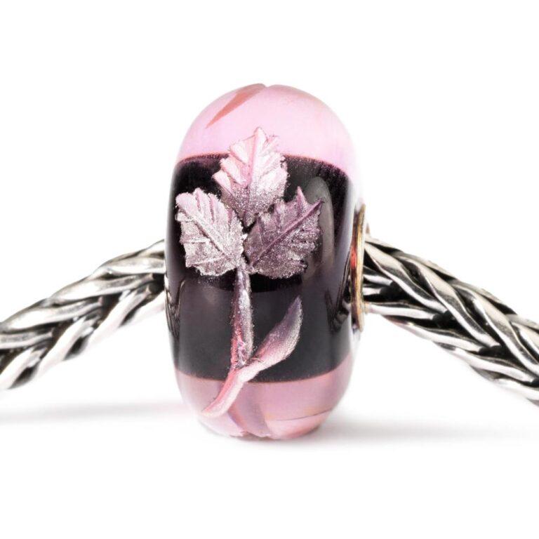 Beads Trollbeads in Argento e Vetro - Intarsio Rosa - TGLBE-20005