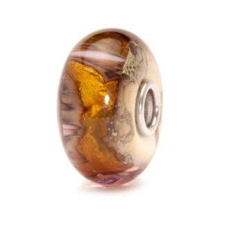 Beads Trollbeads in Argento e Vetro - Grotta Oro - TGLBE-20047