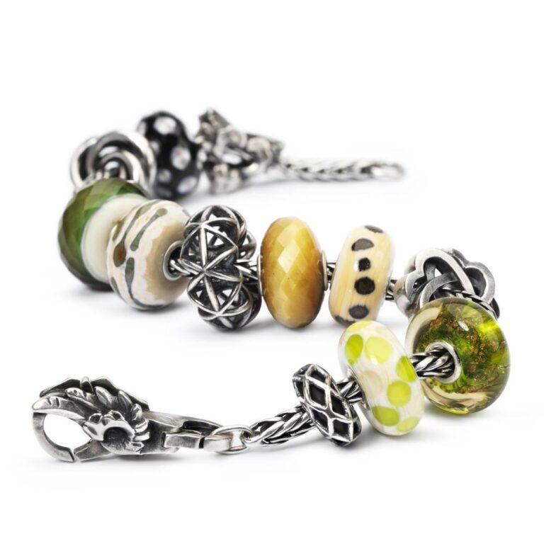 Beads Trollbeads in Argento e Vetro - Rami di Salice - TGLBE-30020