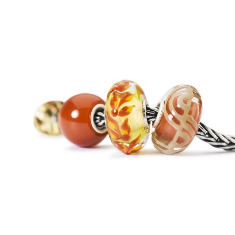 Beads Trollbeads in Argento e Onice - Onice Rosso Rotondo - TSTBE-00023