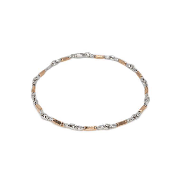 Bracciale Zancan in Oro Bianco e Oro Rosa - Eternity Gold - EB805BR
