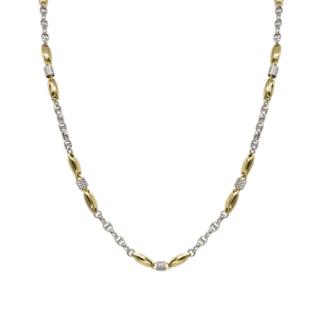 Collana Zancan in Oro Giallo e Bianco con Diamanti - Eternity Gold - EC640BG