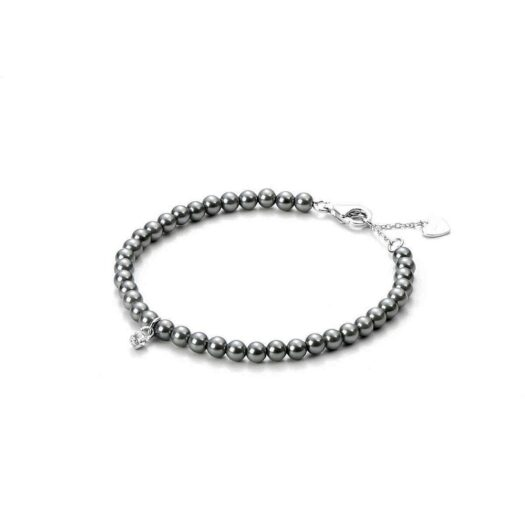 Bracciale 4US in Argento con Perle e Zircone - Grey Eye - 4UBR3251W