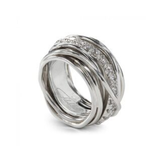 Anello 13 Fili in Argento con Diamanti - Carato Collection - AN001ABT