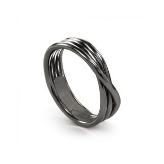 Anello 3 Fili in Argento Brunito - Rock Collection - AN8N