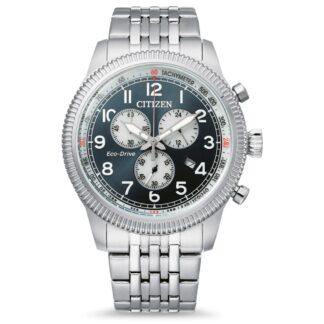 Orologio Eco Drive Cronografo Citizen in Acciaio - Crono Aviator - AT2460-89L