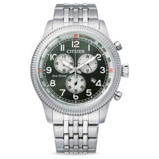 Orologio Eco Drive Cronografo Citizen in Acciaio - Crono Aviator - AT2460-89X