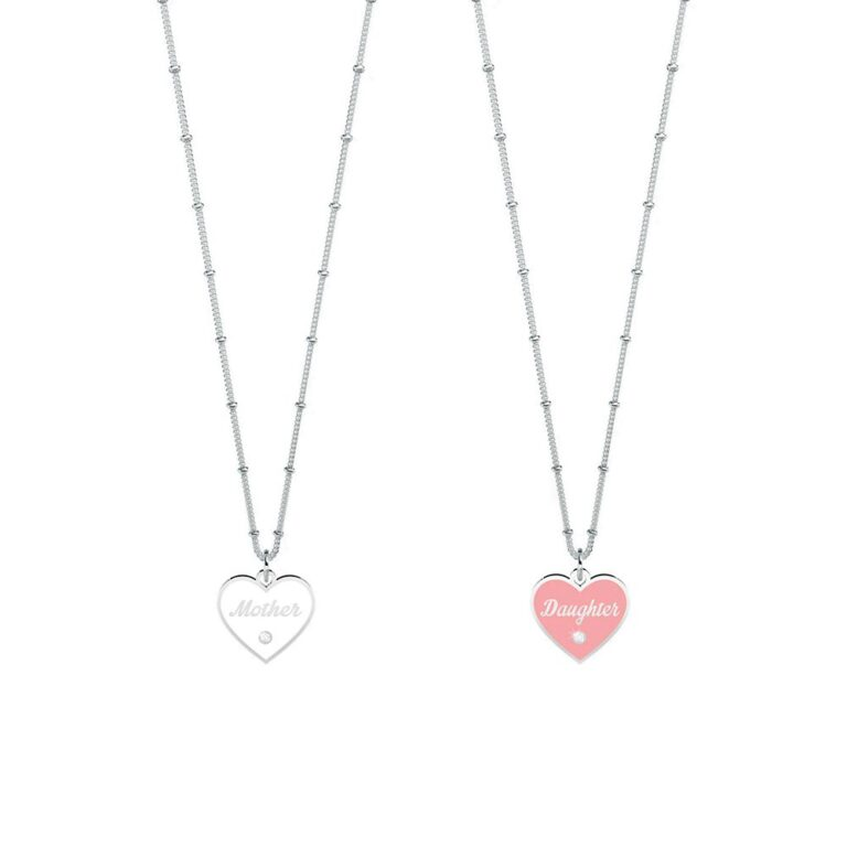 Set Collane Kidult in Acciaio Mother-Daughter  Amore Infinito – Family – 751162