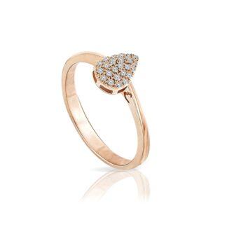 Anello Mey in Oro Rosa con Diamanti | Goccia - ANMEY GCS-DR