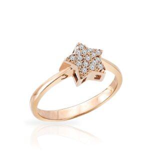 Anello Mey in Oro Rosa con Diamanti | Stella - ANMEY STR-DR