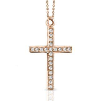 Collana Mey in Oro Rosa con Diamanti | Croce - CDMEY CLA-CR