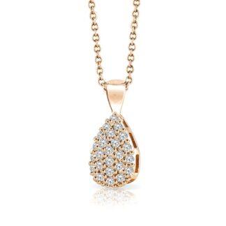 Collana Mey in Oro Rosa con Diamanti | Goccia - CDMEY GCS-DR