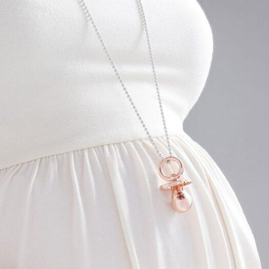 Ciondolo Ciuccio Le Bebè in Argento con Diamante - Suonamore - SNM002