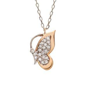Collana Donna Artlinea Oro Bianco Oro Rosa Diamanti - Joy - CD384-LH
