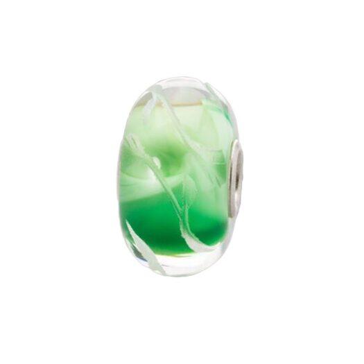 Beads Trollbeads in Argento e Vetro - Foglie di Lime - TGLBE-30047