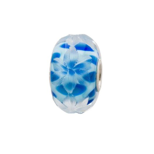 Beads Trollbeads in Argento e Vetro - Fiori di Mirtillo - TGLBE-30049