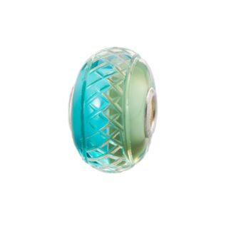 Beads Trollbeads in Argento e Vetro - Menta Piperita - TGLBE-30051