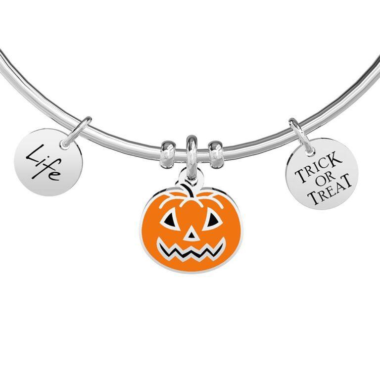 Bracciale Kidult in Acciaio Halloween  Zucca - Symbols - 731866