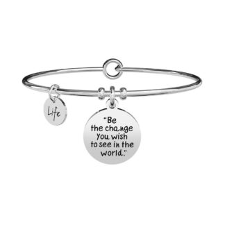 Bracciale Kidult in Acciaio Be The Change  Gandhi - Philosophy - 731884