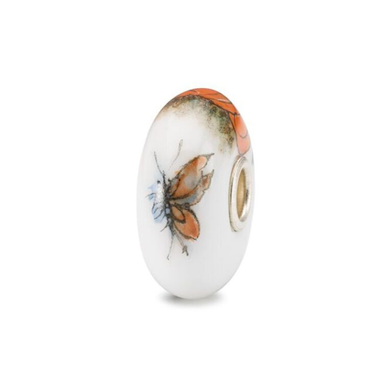 Beads Trollbeads in Argento e Porcellana - Zucca - TCHBE-30009