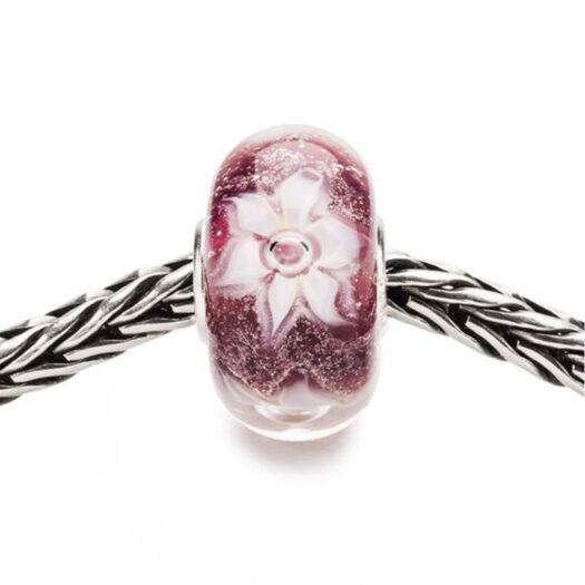 Beads Trollbeads in Argento e Vetro - Fiore Sincero - TGLBE-20125