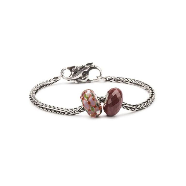 Beads Trollbeads in Argento e Vetro - Fruscio di Foglie - TGLBE-20135