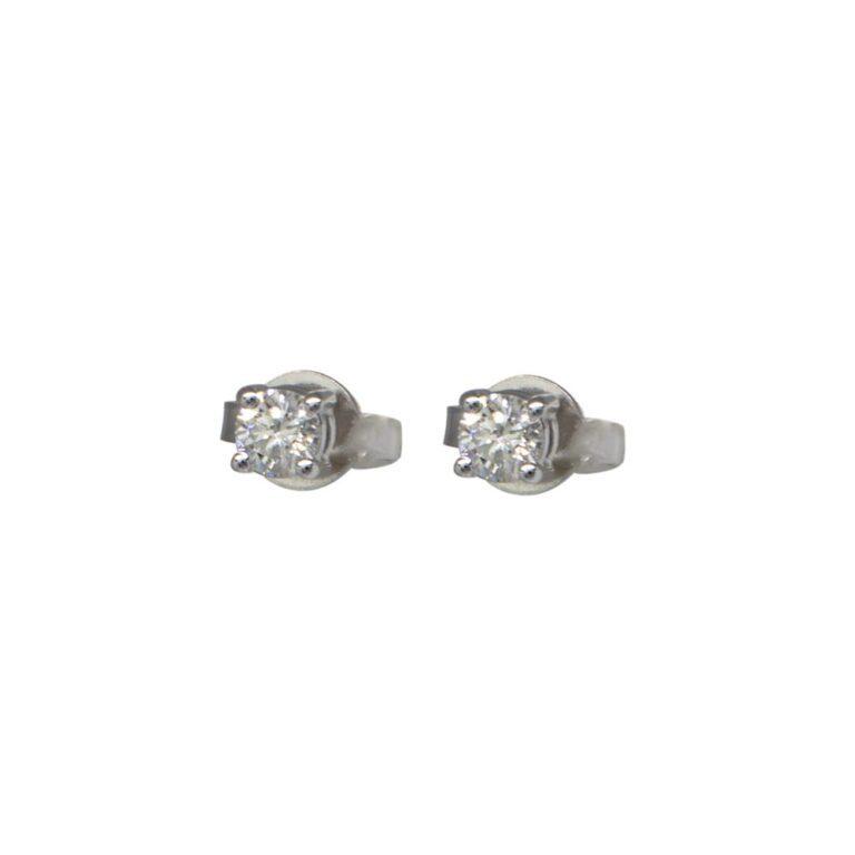 Orecchini Davite&Delucchi in Oro Bianco con Diamanti - BBS0733330