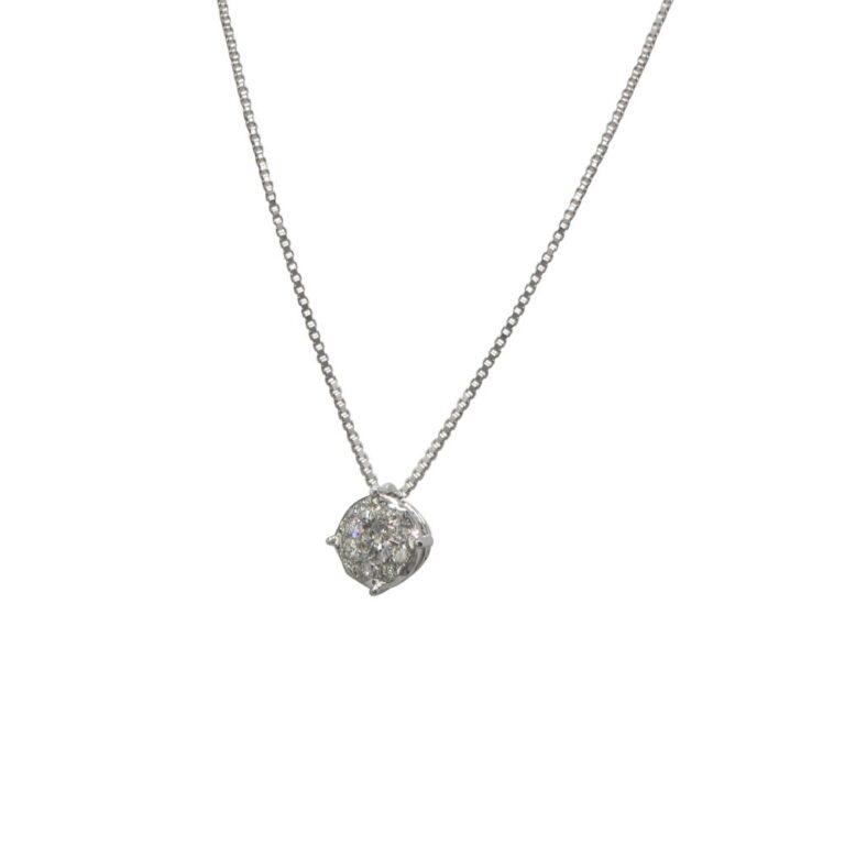 Collana Davite&Delucchi in Oro Bianco con Diamanti - CLN0111840S